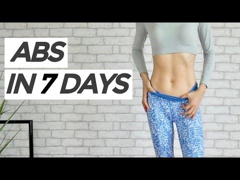 Get 11 Line Abs Fast!   10 Min, No Jump, Beginner Friendly Workout ( Eng Sub)