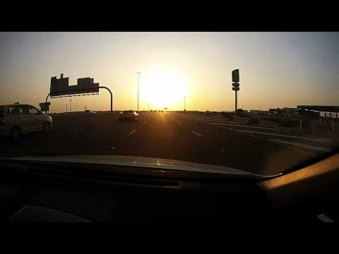 Driving from Dubai to Abu Dhabi (timelapse)
