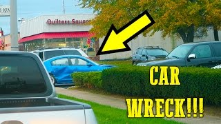 CAR WRECK RIGHT IN FRONT OF ME!