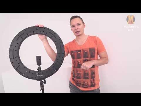 Обзор лучшей кольцевой лампы для визажиста, блогера, фотографа или селфи RL-18