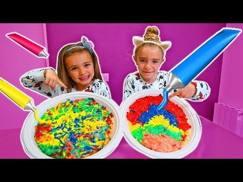Pretend Play Pizza colors Challenge!! Las Ratitas!!!