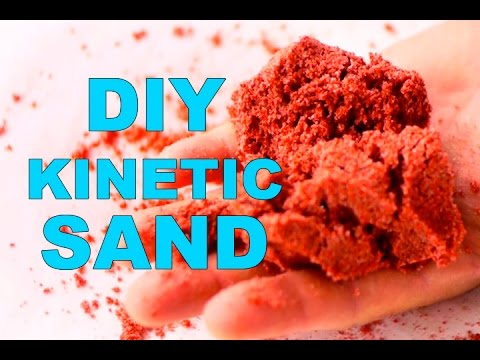 how to make colored kinetic sand 3 ways to make the. Black Bedroom Furniture Sets. Home Design Ideas