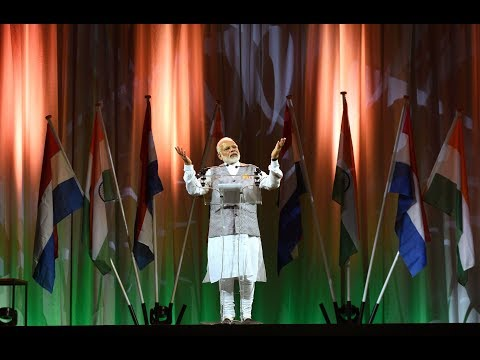 PM Modi met members of Dutch Indian community at The Hague Netherlands