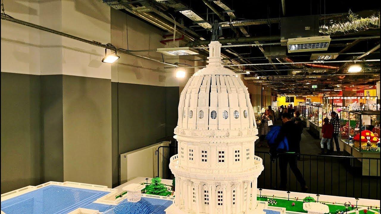 Budynek Kapitolu z klocków Lego. Wystawa Budowli z Klocków Lego.PGE Narodowy.