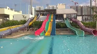 Awesome water slide pool