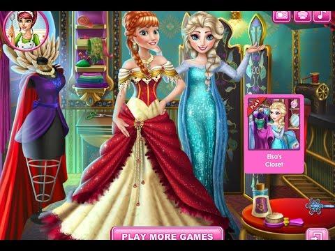 f6519839955 Видео для детей—Эльза дизайнер платья Анны—Онлайн Видео Игры для Девочек  Мультфильм 2015