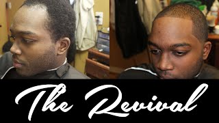 Mens Receding Hairline Taper Haircut | The Revival | AD The Barber