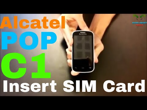 Alcatel One Touch POP C1 Insert the SIM card