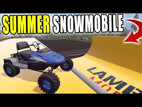 SNOWMOBILING AT A SKATE PARK?? | OFF ROAD SNOWMOBILE | FARMING SIMULATOR 2017