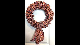 See Below for more ⬇⬇⬇⬇⬇ How to make a ribbon wreath My Etsy Shop h...