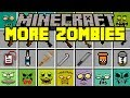 Minecraft MORE ZOMBIES MOD! | ZOMBIES, WALKERS, GUNS, TRAPS, & MORE! | Modded Mini-Game