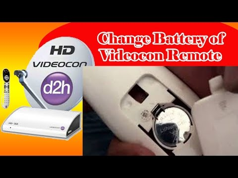 Change battery in Videocon D2H Remote