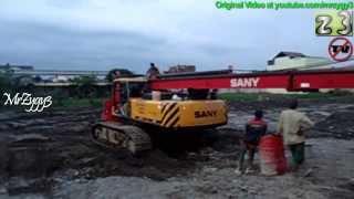 volvo fl10 trailer truck and sany sr150c hydraulic bored pile