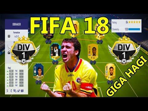 Gica Hagi Marcheaza Un Super Gol Din Lovitura Libera - FIFA 18 Ultimate Team