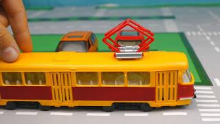 Мультик про машинки - 236 серия:  Полицейская погоня, Гоночная машина, Трамвай, Троллейбус