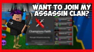¿Quieres unirte a mi clan asesino? Roblox Assassin