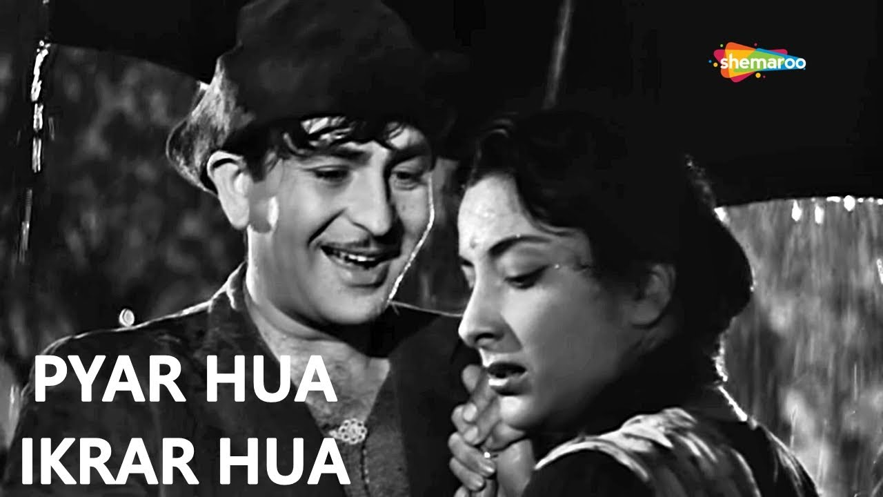 Pyar Hua Ikraar Hua | Raj Kapoor | Nargis | Shree 420 - HD Lyrical