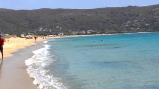 Остров Наксос, пляж Плака. Греция, июнь 2014(Протяженный золотой пляж, отличный песок, пологий заход в море. Море чистейшее, цвета выцветшей бирюзы ..., 2014-06-25T16:11:51.000Z)