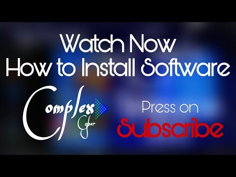 how to install software on computer?