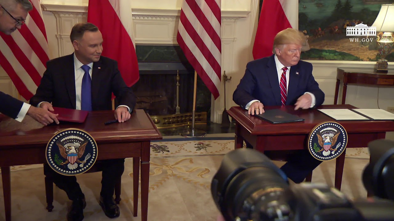 The White House - President Trump Participates in a Joint Signing Ceremony with the President of Pol