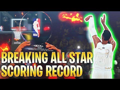 BREAKING THE ALL STAR GAME SCORING RECORD! NBA 2K18 MyCareer