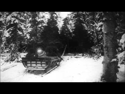 Scenes of the Russo-Finnish Winter War,  in Finland,  1940 HD Stock Footage