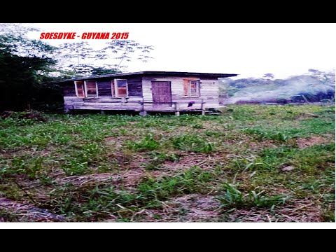 GUYANA Vacation - Driving Through SOESDYKE Village Guyana 2015
