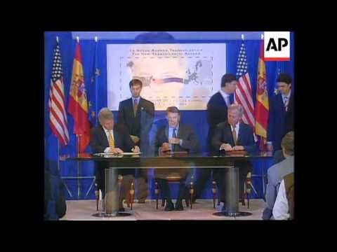 Spain - Signing Of Transatlantic Treaty
