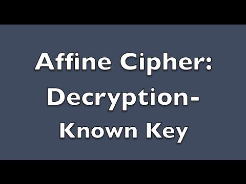 Affine Cipher Decryption - Known Key