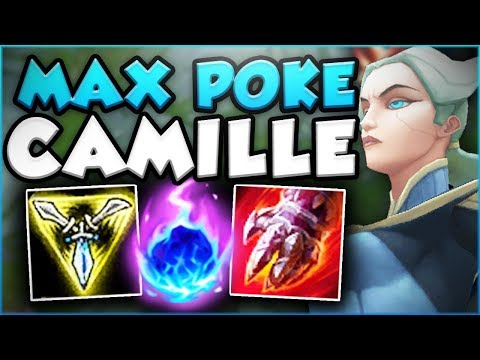 MAX POKE CAMILLE IS ACTUALLY SO OPPRESSIVE! CAMILLE SEASON 8 TOP GAMEPLAY! - League of Legends