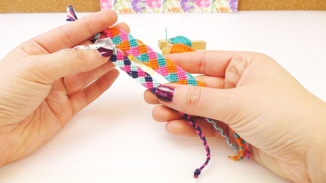 DIY Freundschaftsarmband knpfen   Knpfarmband in ...