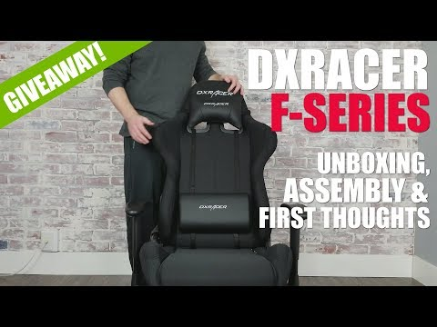 DXRacer F Series (OH/FD01/N) Gaming Chair Unboxing, Assembly, & Giveaway