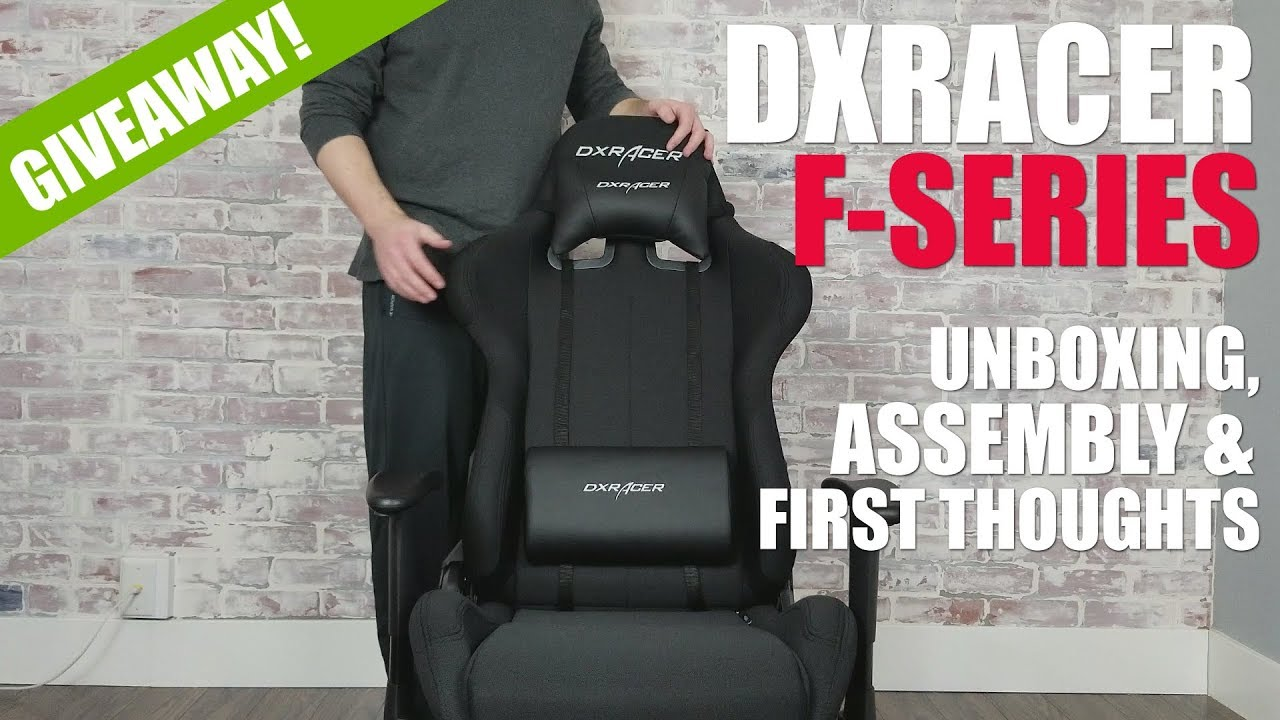 Dxracer F Series Ohfd01n Gaming Chair Unboxing Assembly Giveaway