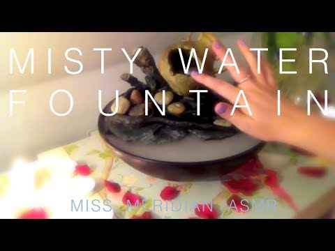 Misty whisper water fountain | Tapping pebbles, mist and candles, with soothing whisper. ASMR.