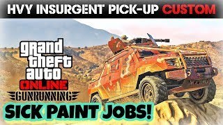 TOP 5 AWESOME PAINT JOBS FOR THE NEW INSURGENT PICK UP CUSTOM! (GUNRUNNING DLC) GTA V ONLINE
