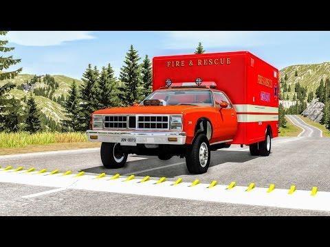 Spike Strip High Speed Crashes #22 – BeamNG Drive