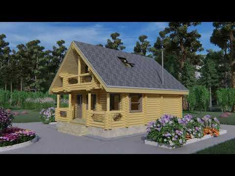 """Проект дома с баней, мансардой, террасой и балконом """"Тенор"""" 102,4 м2"""