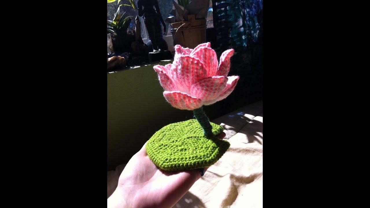 Crochet Lotus Flower Design Collection Youtube