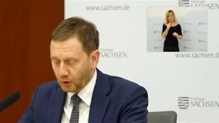 Kabinettspressekonferenz zum aktuellen stand der corona-pandemie in sachsen