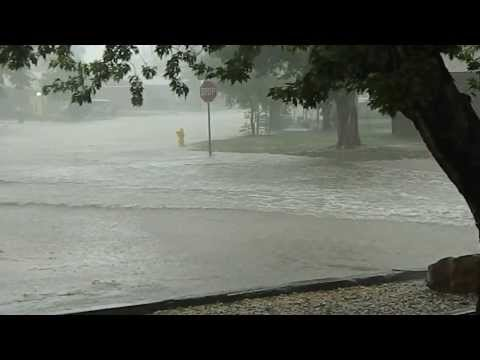 Street Flooding near Colorado Springs, August 3, 2013