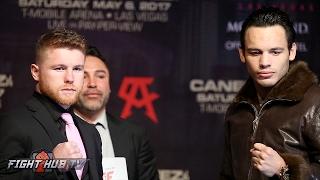 Canelo Alvarez vs. Julio Cesar Chavez Jr. FULL New York Press Conference & Face Off Video