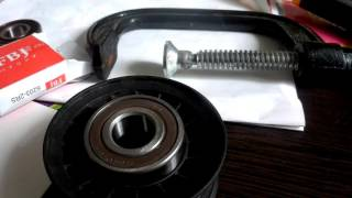 замена подшипника в ролике натяжителя форд мондео 3
