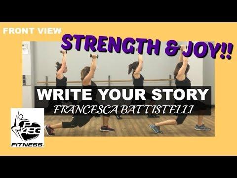 WRITE YOUR STORY    FRANCESCA BATTISTELLI    P1493 FITNESS®    CHRISTIAN FITNESS