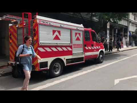 Temor y caos vehicular en Santa Fe y Mitre por un principio de incendio en un subsuelo