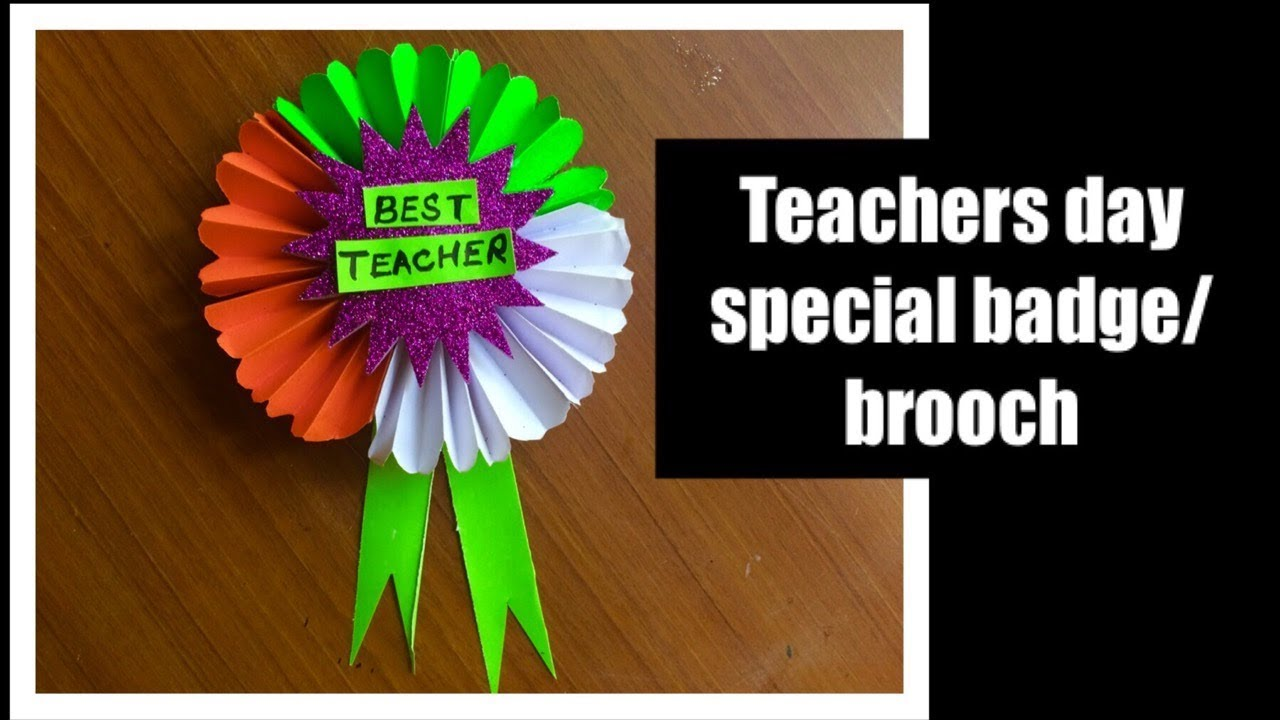 Diy Teachers Day Brooch Badge For School Bulletin Board Decoration