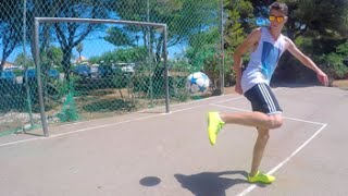 Crossbar trick shots fun! | footballskills98