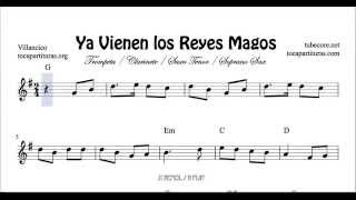 Ya vienen los Reyes Magos Sheet Music for Trumpet Clarinet Tenor and Soprano Sax in B flat
