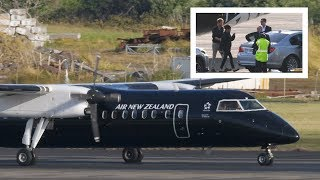 ROYAL FLIGHT Prince Harry & Meghan Tour | Air NZ Dash 8 Q300 Arriving at Auckland Airport [4K50]