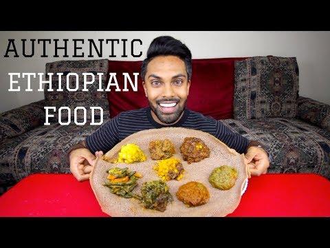 AUTHENTIC ETHIOPIAN FOOD | MUKBANG