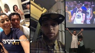 Steph Curry & Family Celebrate 3rd NBA Title On IG Live!